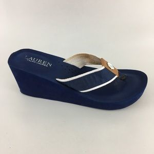 Lauren Ralph Lauren Wedge Thongs Flip Flops 8